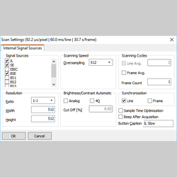 SEM acquisition - DISS5 scan configuration tool
